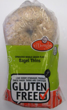 O'Doughs Gluten Free Sprouted Whole Grain Flax Bagel Thins