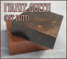 RAWR fancy shimmery charcoal pirate queen soap