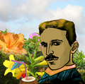 Tesla, on his tropical vacation