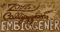 "Old-timey, stained, sepia patent medicine label stating ""Dr. Zomg's Extremely Reliable Callipygian Embiggener. Wow!"""