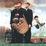 "Norman Rockwell Famous Artwork Cleaning Cloth ""Bottom Of The Sixth"""