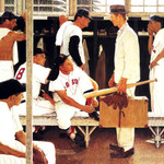"Norman Rockwell Famous Artwork Cleaning Cloth ""The Rookie"""