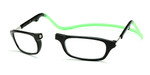 Clic Compact Reading Glasses in Black Frame with Green Headband