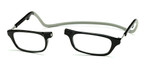 Clic Compact Reading Glasses in Black Frame with Grey Headband Custom