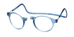 Clic Brooklyn Oval in Blue Jeans Progressive Eyeglasses
