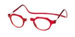 Clic Metro Oval in Red Progressive Eyeglasses