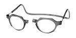 Clic Metro Oval Reading Glasses in Grey