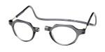 Clic Metro Oval Reading Glasses in Grey