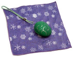 Holiday Christmas Theme Cleaning Cloth, The Egg in Green (Style 2)