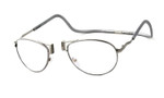 Clic XXL Metal Aviator Frame Custom Reading Silver
