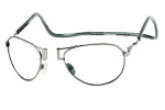 Clic Metal Aviator Frame Bi-Focal in Gun