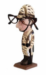Army-Guy Peeper Eyeglass Holder Stand