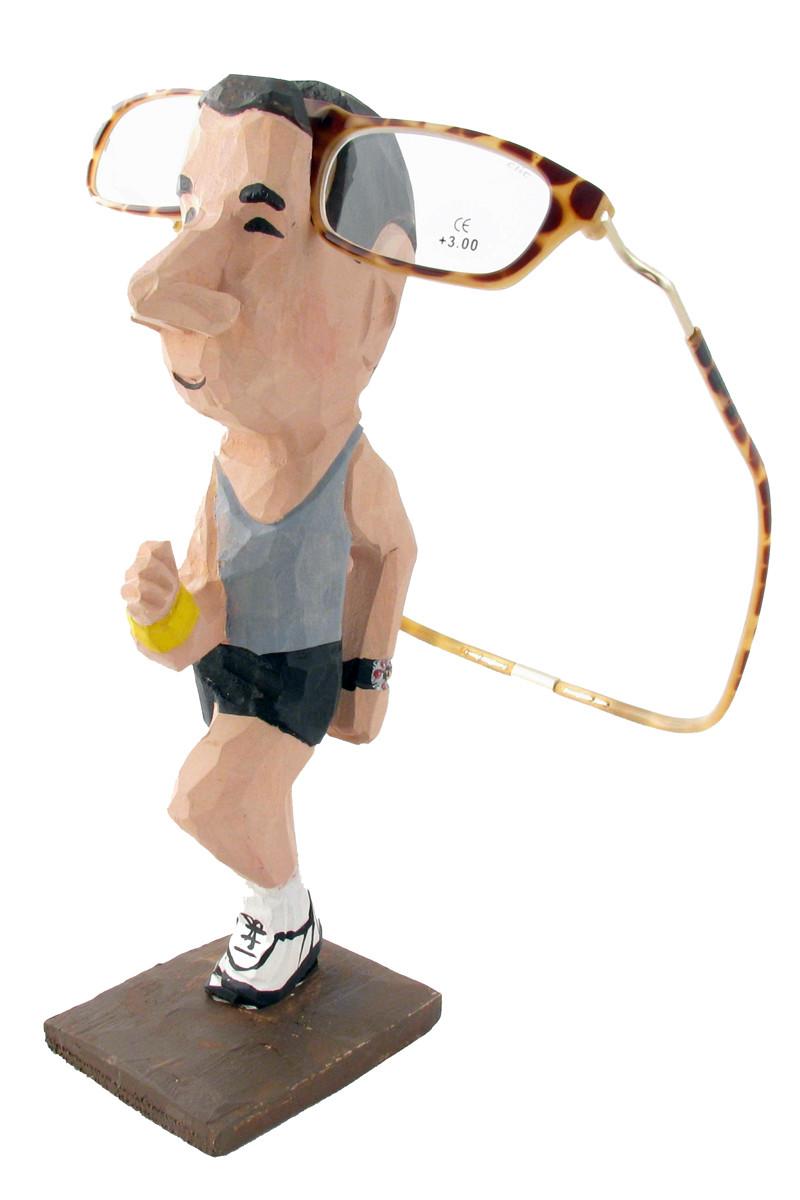 jogger peeper eyeglass holder stand clic magnetic