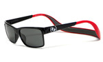 Hoven Eyewear MONIX in Black / Red with Gloss Grey & Grey Polarized