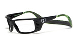 Hoven Eyewear Meal Ticket in Black Gloss with Green Camo :: Custom Left & Right Lens