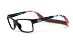 Hoven Eyewear MONIX in Black with American Flag Graphic :: Custom Left & Right Lens