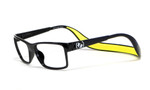 Hoven Eyewear MONIX in Black & Yellow :: Custom Left & Right Lens