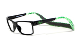 Hoven Eyewear MONIX in Black & Green Turtle :: Rx Bi-Focal