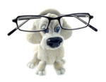 Opti Pets Eyeglass Holder Stand Opti Pets White Poodle