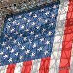 """World's Biggest Stars & Stripes"" American Flag Artwork Cleaning Cloth"