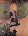 Famous Artwork Theme Cleaning Cloth 'A Girl with a Watering Can' by Renoir