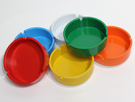 "Ashtray deep 4"" Assorted color"