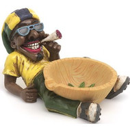 Jamaican Man Holding Ashtray