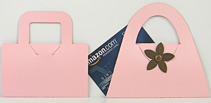 Gift Card Holders shown in Shimmering Rose Quartz. Blossom not included.