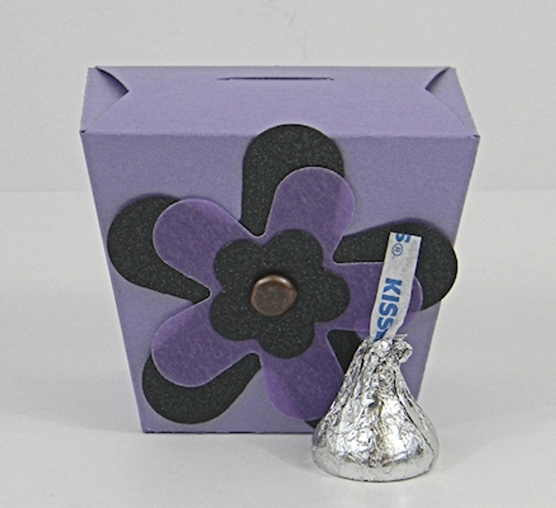 Mini Take Out Box shown in Shimmering Amethyst. Blossom not included.