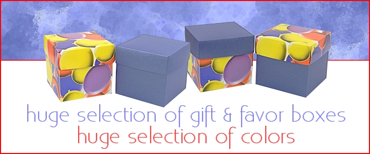 Colorful Favor Boxes