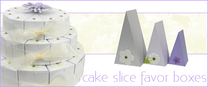 Cake Slice Favor Boxes Wedge Shaped Gift Boxes Bayley 39 S Boxes