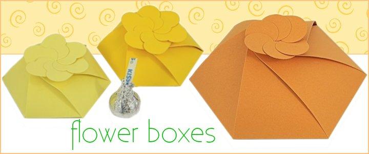 Unique Flower Shaped Gift & Favor Boxes