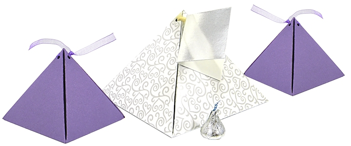 Pyramid Shaped Gift Boxes
