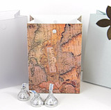 Small Bag Box shown in Old Map pattern.