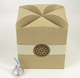 Large Cube Box shown in Recycled Kraft. Box Belt & Foil Seal not included.
