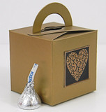 Small Cube Box With Handle shown in Shimmering Antique Gold. Foil Seal not included.
