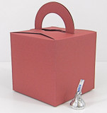 Large Cube Box With Handle shown in Shimmering Dusty Bloom.