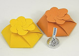 Small 3D Flower Boxes shown in Lemon Drop & Orange Fizz.