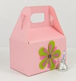 Small Gable Box shown in Shimmering Rose Quartz. Blossoms not included.