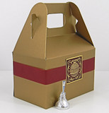 Large Gable Box shown in Shimmering Antique Gold. Box Belt & Foil Seal not included.