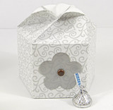 Large Petal Box shown in Silver Scroll pattern. Blossom not included.
