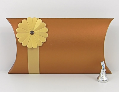 large pillow box shimmering copper box belt u0026 blossom not included