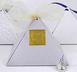 Large Pyramid Box shown in Shimmering Lilac. Foil Seal & ribbon not included.
