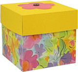 Floral Watercolor Box with Lemondrop lid. Blossom not included.
