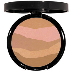 - Pressed bronzing powder - Matte finish - Zebra print pattern