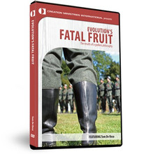 Evolution's Fatal Fruit (DVD)  Darwin gave the world an explanation of life that helped to fuel the ovens at Auschwitz. Tom DeRosa shows the grim applications of evolutionary theory to human society applied by Hitler's belief that he was helping the process along. These evolutionary ideas were also taken up by the American eugenics movement, which forcibly sterilized thousands. It's shocking and it's being advocated again today. You will never see evolution as 'just a harmless theory' again.  Product Details  Format: DVD/NTSC/Color/Stereo Language: English Subtitles: English Studio: Creation Ministries Int'l Year: 2010 Time: 56 Minutes