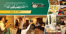 You are invited to join us on Saturday, June 3, 2017 for our third annual Taste of Creation fundraising event. Take a walk through history and experience some fantastic foods themed for each exhibit, and purchase items in our Silent and Live Auctions. Proceeds will help equip future generations and proclaim the gospel of Jesus Christ by providing resources to enhance exhibit displays and community educational programs, and offset annual operating expenses. Special Message by Museum President Tom Cantor and music by the De La Motte Strings.