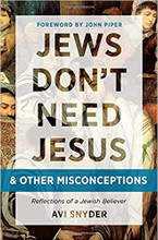 "A debate that's 2,000 years old, and running…  Do Jews need Jesus? It's an age-old debate with eternal ramifications. If Jesus is not the Jewish Messiah, if He is not the savior of the world, if He is not the promised redeemer God sent to restore Israel and redeem the nations (Isaiah 49:6), then bringing His message to the Jewish people is a grave threat to their security.  But if He is the prophet God promised to raise up, if God did indeed command Israel to follow Him, and if the Jews will be held accountable by God if they don't accept Jesus, then sharing His message is beyond imperative. Jesus is either ""Lord of all or not Lord at all."" The stakes couldn't be higher.  Jews Don't Need Jesus… and Other Misconceptions settles this dispute with biblical evidence. It argues that believing in Jesus isn't apostasy; it's obedience, and it leads to eternal blessing. That's what makes this book critical for Jewish people or anyone in gospel ministry to the Jews"