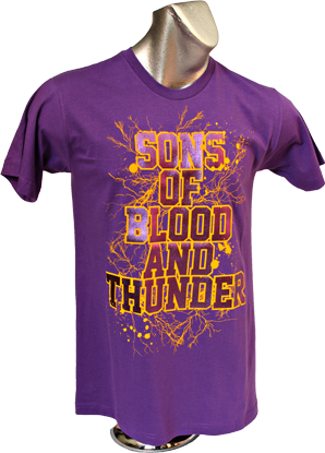 Son's Of Blood & Thunder T-Shirt (Front)