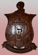 KAPPA ALPHA PSI HAND CARVED SHIELD